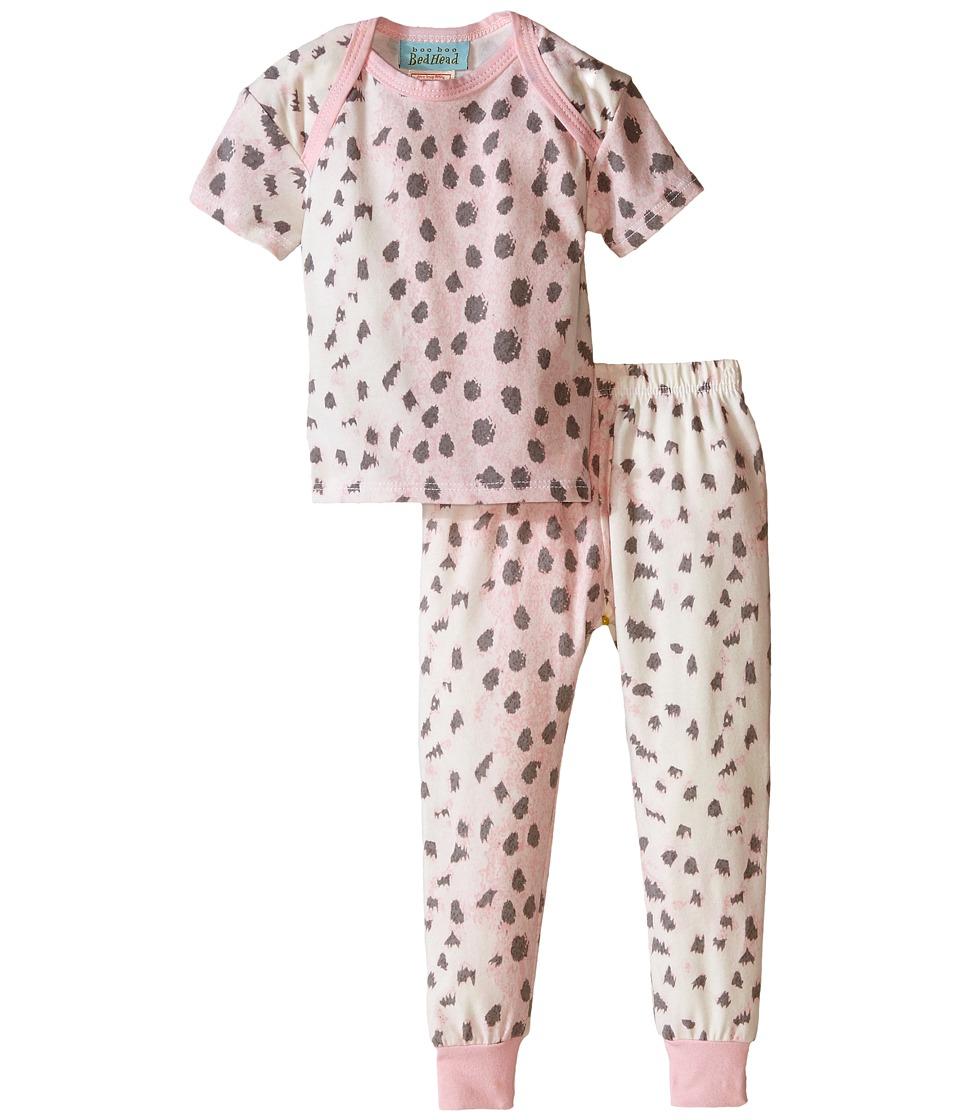 BedHead Kids - Short Sleeve Long Bottom Pajama Set (Infant) (Pink Royal Animal) Girl's Pajama Sets