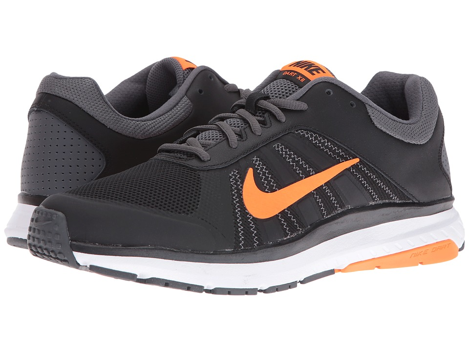 Nike - Dart 12 (Black/Total Orange/Dark Grey/White) Men's Running Shoes