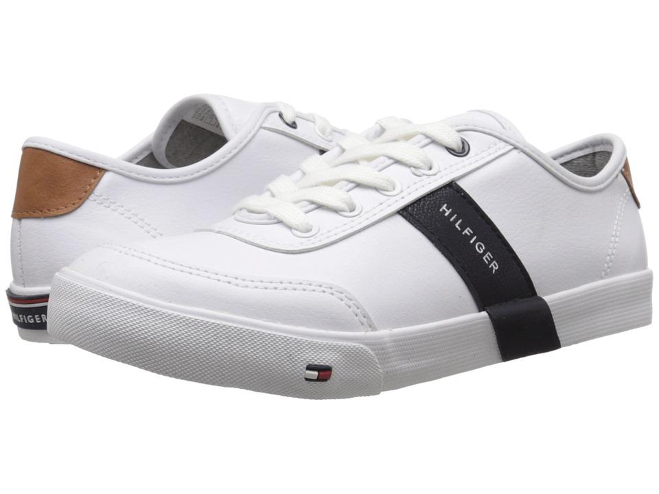 Tommy Hilfiger Kids - Dennis Low Stripe (Little Kid/Big Kid) (White) Boys Shoes