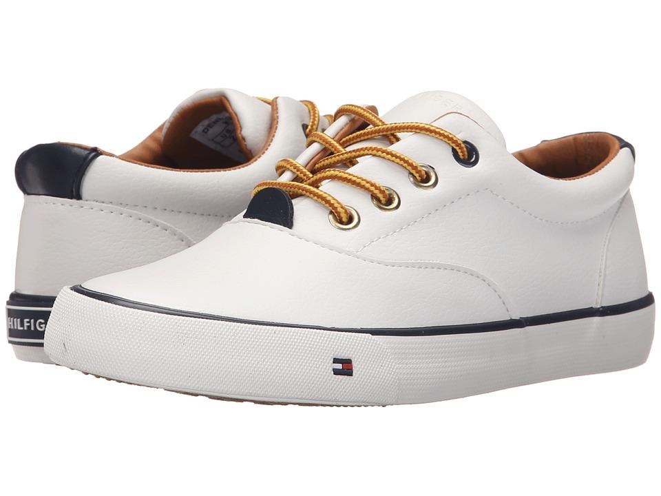 Tommy Hilfiger Kids - Dennis Oxford (Little Kid/Big Kid) (White PU) Boy's Shoes