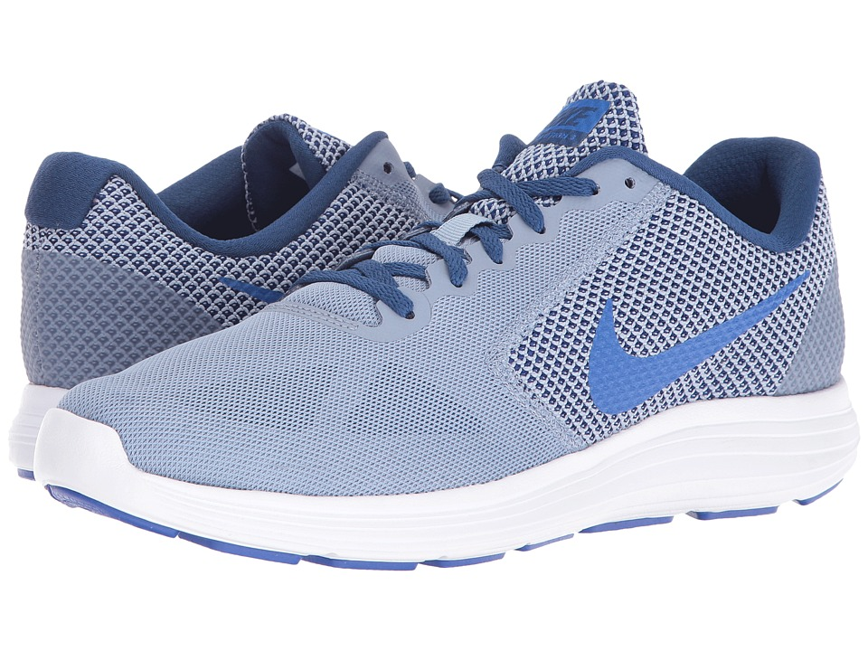 Nike - Revolution 3 (Cool Blue/Coastal Blue/White/Hyper Cobalt) Men's Running Shoes