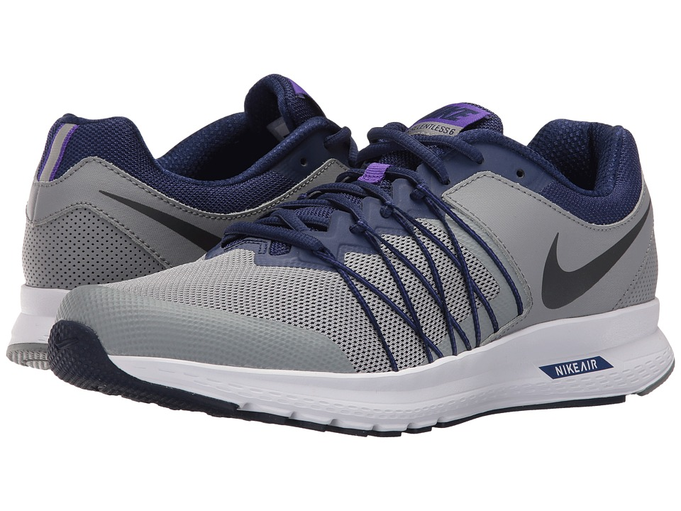 Nike - Air Relentless 6 (Stealth/Loyal Blue/Fierce Purple/Metallic Hematite) Men's Running Shoes