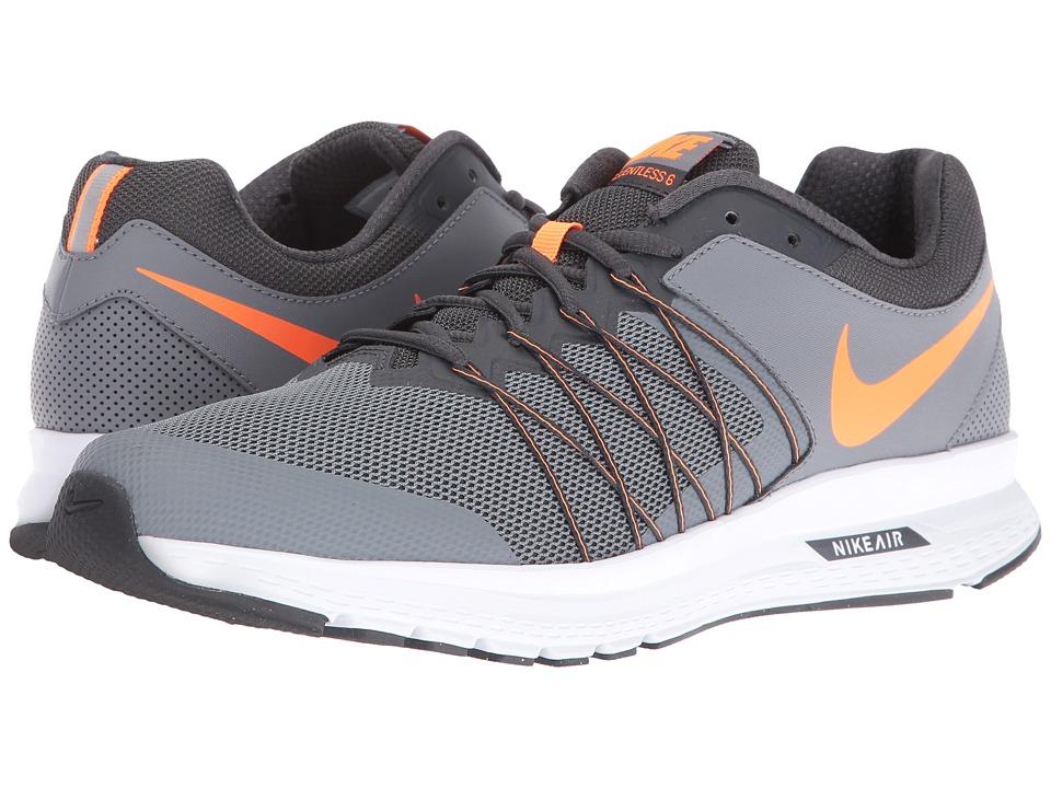 Nike - Air Relentless 6 (Cool Grey/Anthracite/White/Total Orange) Men's Running Shoes