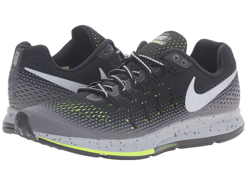 Nike - Air Zoom Pegasus 33 Shield (Black/Dark Grey/Stealth/Metallic Silver) Women's Running Shoes