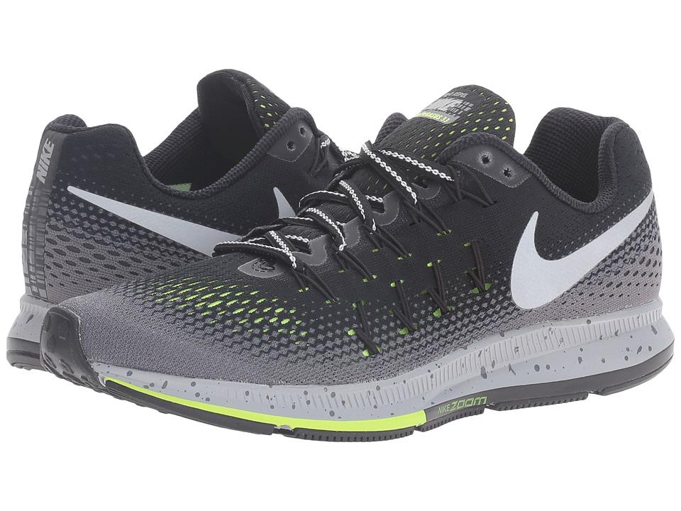 Nike - Air Zoom Pegasus 33 Shield (Black/Dark Grey/Stealth/Metallic Silver) Women's Running Shoes