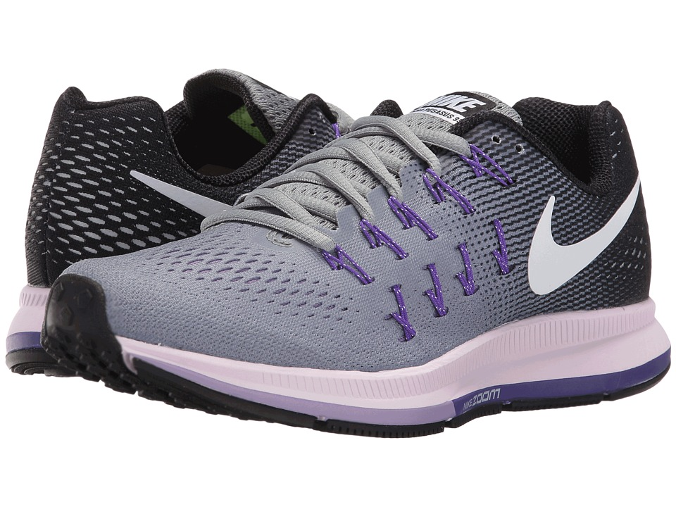 Nike - Air Zoom Pegasus 33 (Stealth/Black/Fierce Purple/White) Women's Running Shoes