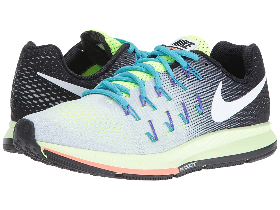 Nike - Air Zoom Pegasus 33 (Pure Platinum/Black/Volt/White) Women's Running Shoes