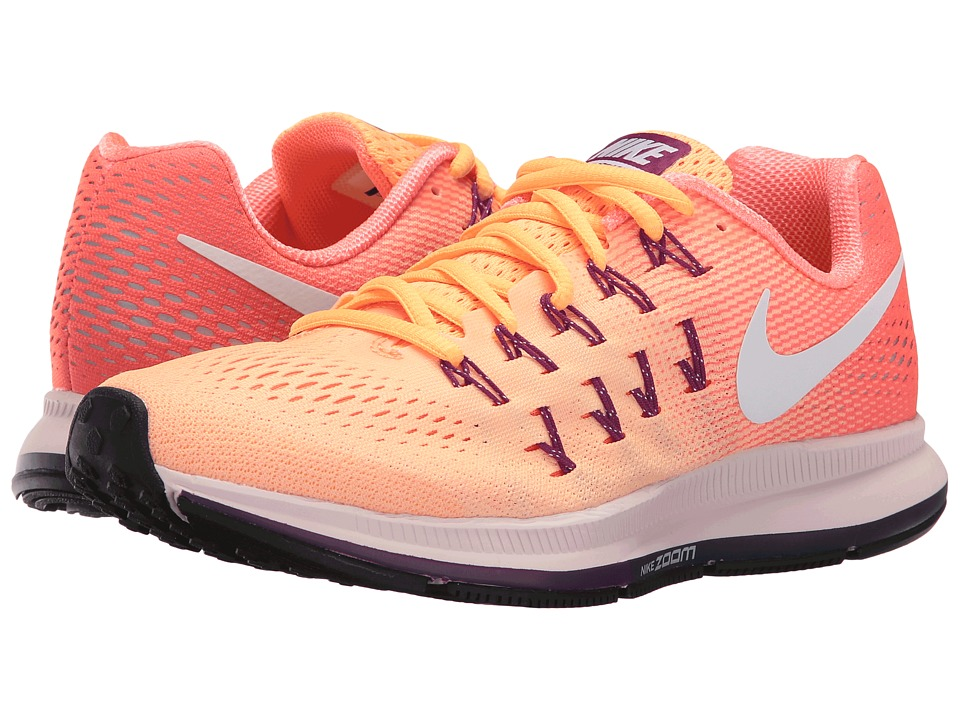 Nike Air Zoom Pegasus 33 (Peach Cream/Bright Mango/Bright Grape/White) Women