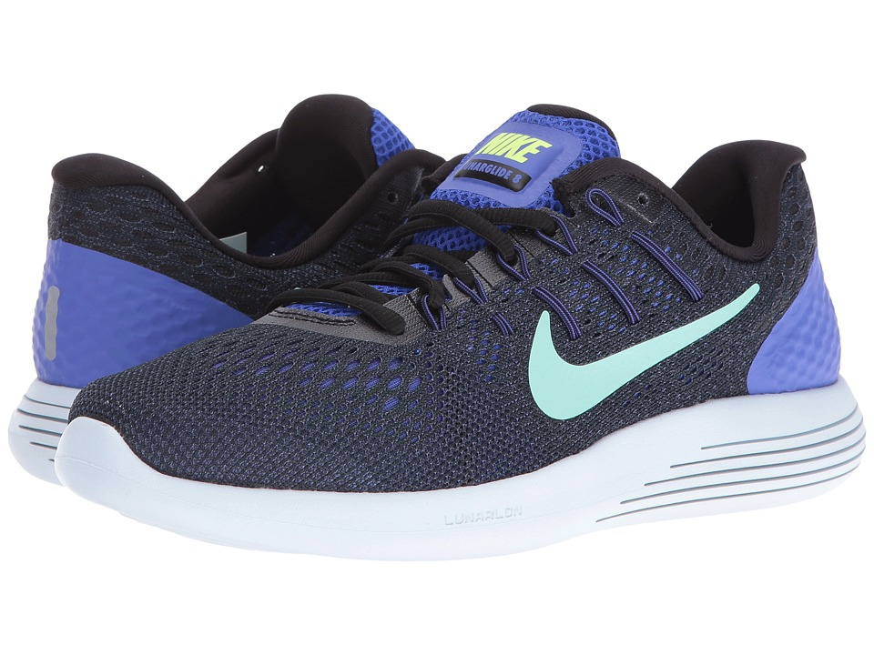 Nike - Lunarglide 8 (Persian Violet/Black/Purple Dust/Green Glow) Women's Running Shoes