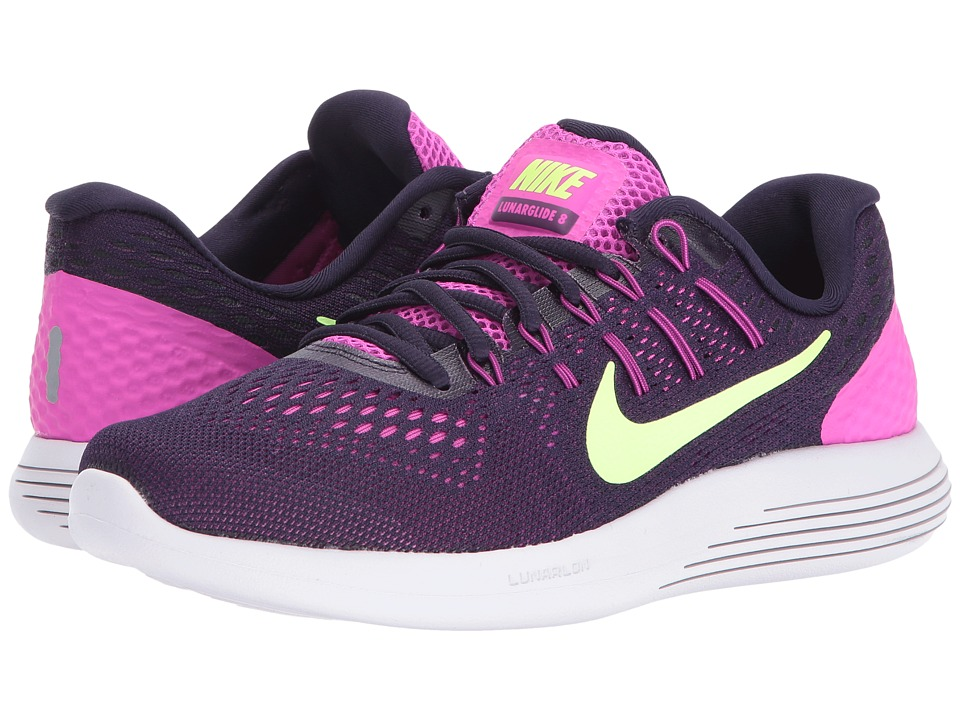 Nike - Lunarglide 8 (Fire Pink/Purple Dynasty/Bright Grape/Ghost Green) Women's Running Shoes