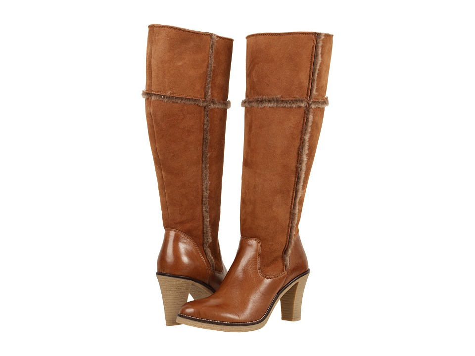 Johnston & Murphy - Jamie (Tan Italian Soft Calfskin/Tan Double-Face Shearling) Women's Boots