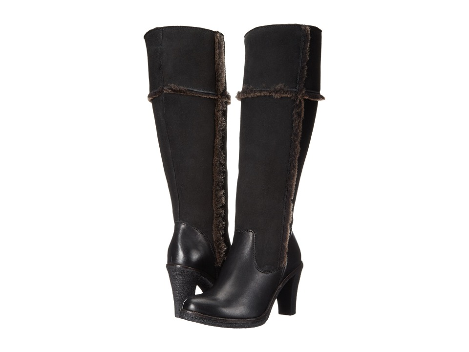 Johnston & Murphy - Jamie (Black Italian Soft Calfskin/Black Double-Face Shearling) Women's Boots