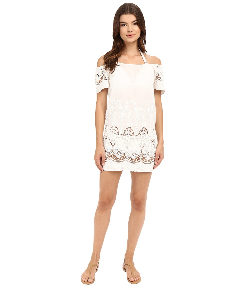 Maaji - Flower Girl Cover-Up Short Dress (White) Women's Swimwear