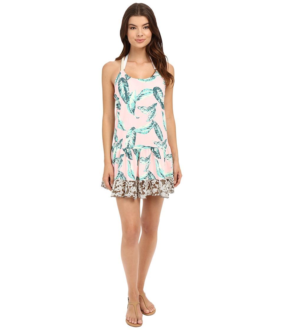 Maaji Leafy Watercolor Cover-Up Short Dress Multicolor Swimwear