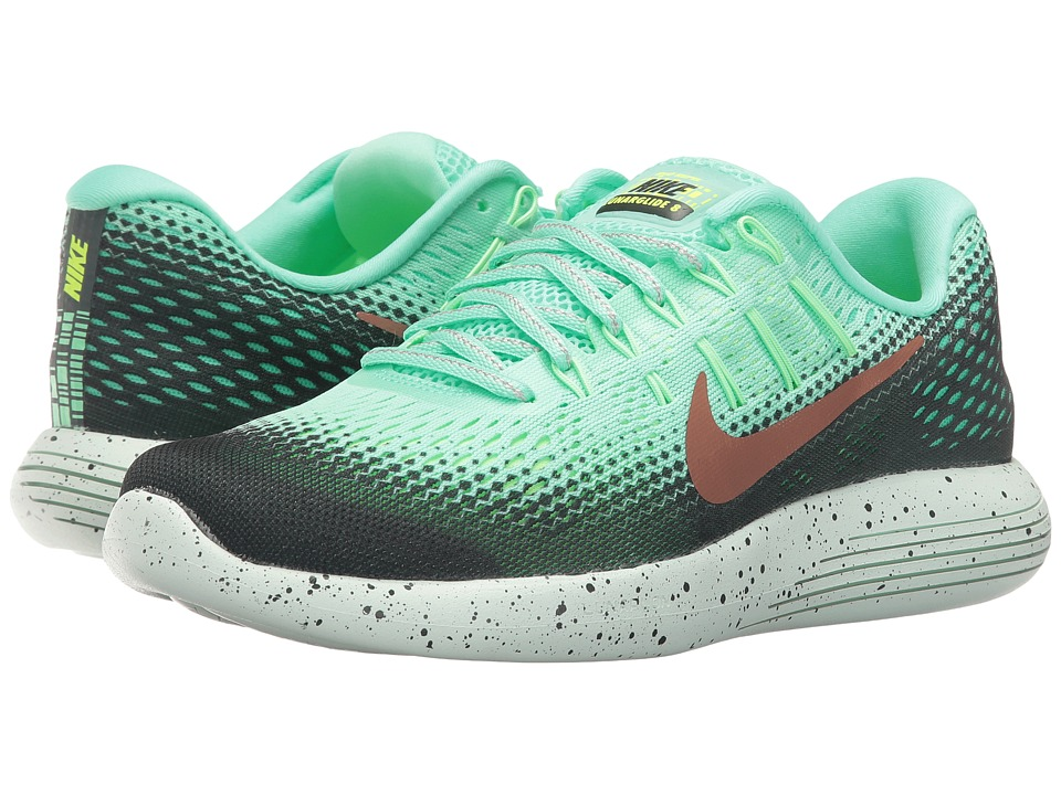 Nike - LunarGlide 8 Shield (Green Glow/Hasta/Ghost Green/Metallic Red Bronze) Women's Running Shoes