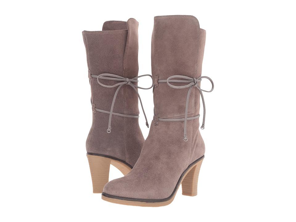 Johnston & Murphy - Jeanie Wrap Bootie (Gray Suede) Women's Dress Boots
