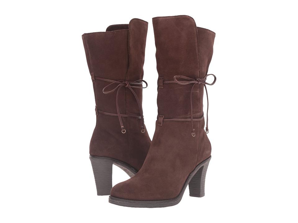 Johnston & Murphy - Jeanie Wrap Bootie (Dark Brown Suede) Women's Dress Boots