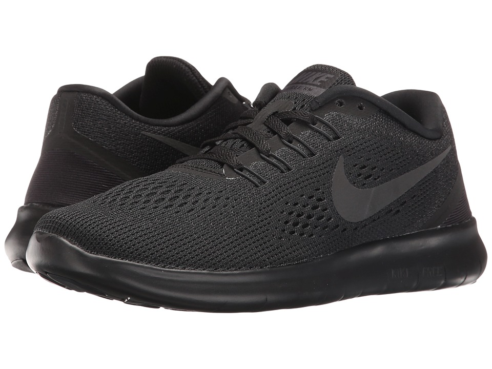Nike - Free RN (Black/Black/Anthracite) Women's Running Shoes