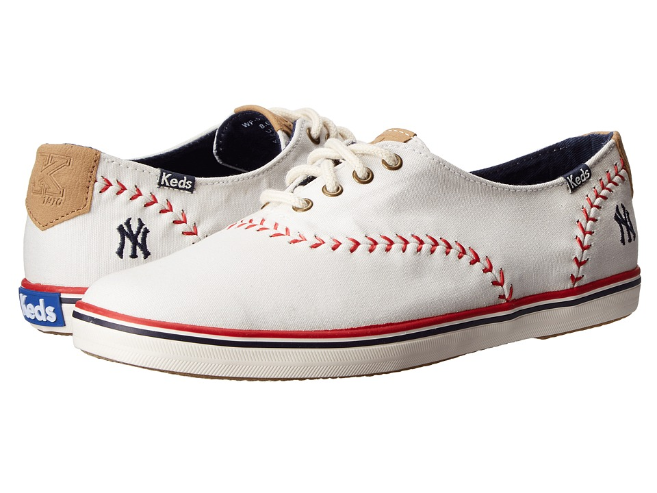 Keds Champion MLB Pennant Yankees (White Canvas) Women