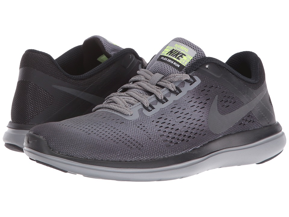 Nike - Flex 16 RN Shield (Cool Grey/Metallic Hematite/Black/Volt) Women's Running Shoes