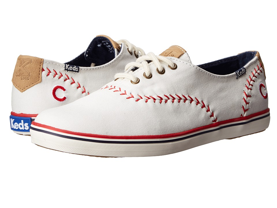 Keds Champion MLB Pennant Cubs (White Canvas) Women