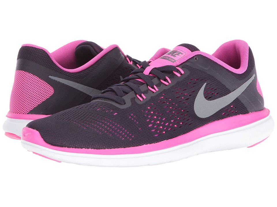 Nike - Flex 2016 RN (Purple Dynasty/Fire Pink/White/Cool Grey) Women's Running Shoes