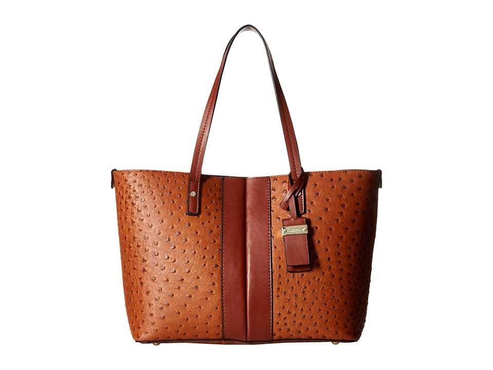 London Fog - Turner Tote (Amber Ostrich) Tote Handbags