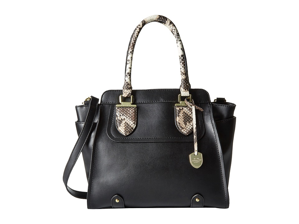 London Fog - Devoe Satchel (Black) Satchel Handbags