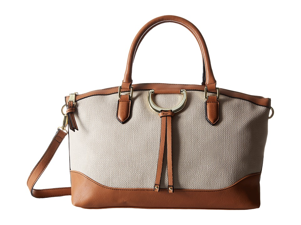 London Fog - Bensen Satchel (Ecru Embossed) Satchel Handbags