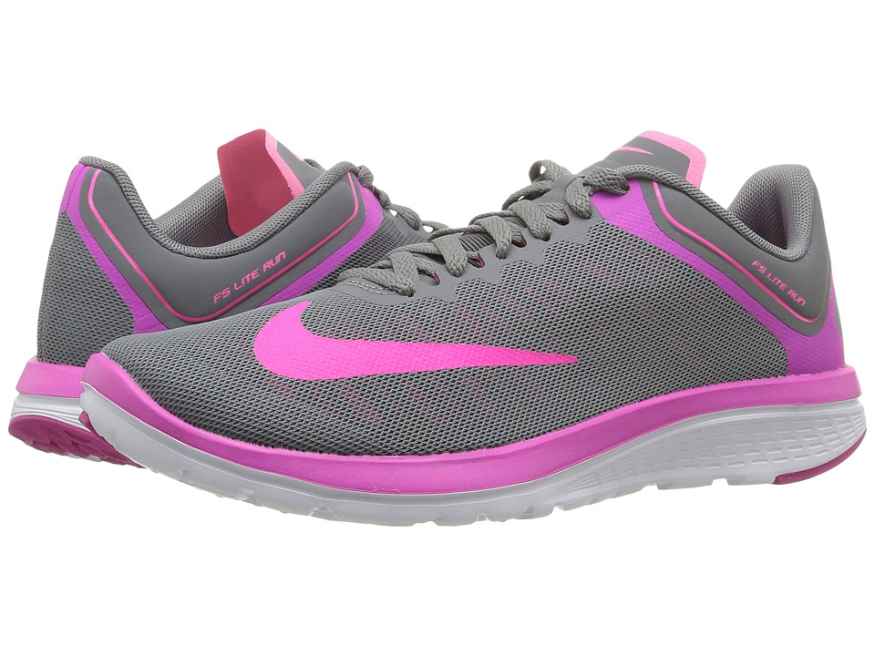 Nike - FS Lite Run 4 (Cool Grey/Fire Pink/White/Pink Blast) Women's Shoes