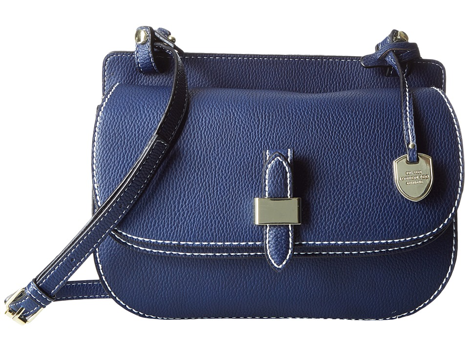 London Fog - Everton Flap Crossbody (Navy) Cross Body Handbags