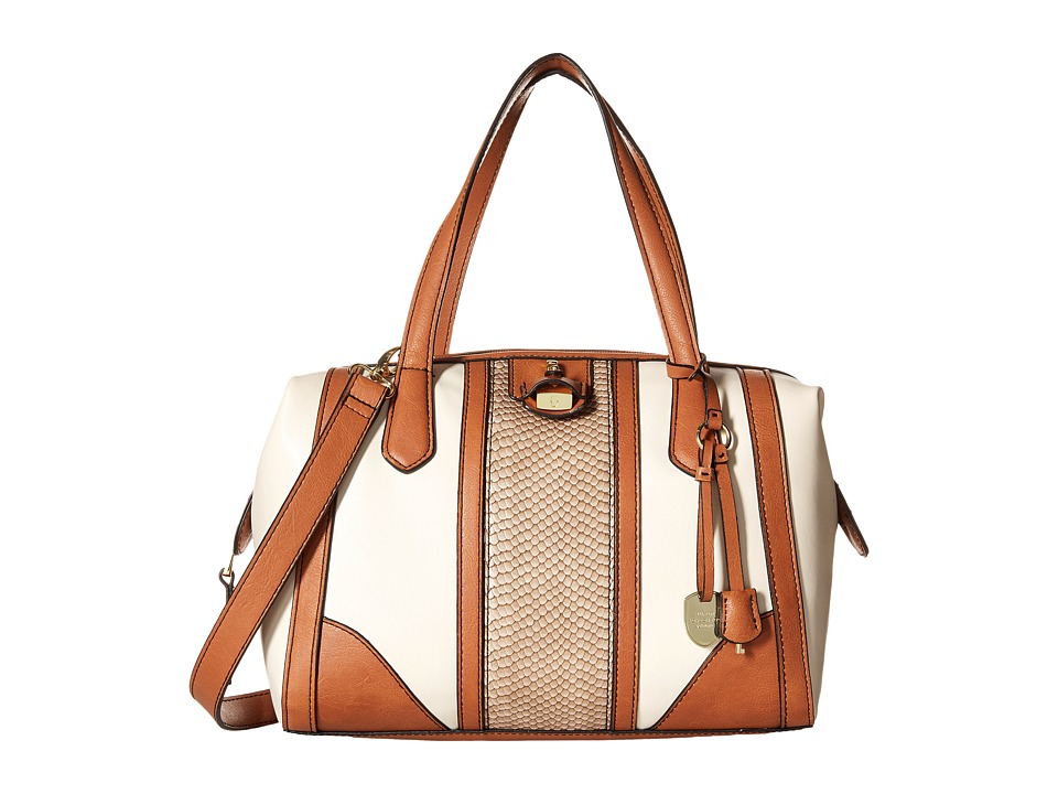 London Fog - Skyler Frame (Ivory Stripe) Shoulder Handbags