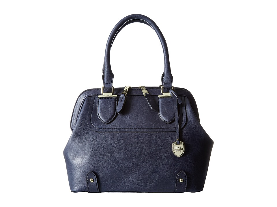 London Fog - Kensington Frame (Navy) Shoulder Handbags