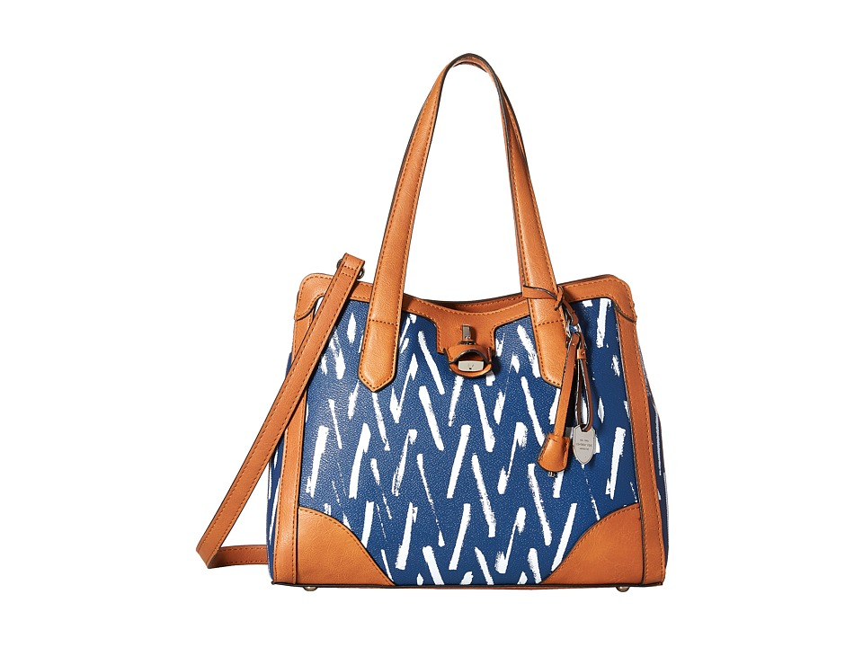 London Fog - Skyler Triple (Navy Geo) Handbags