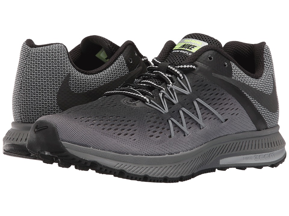 Nike - Air Zoom Winflo 3 Shield (Black/Black/Cool Grey/Wolf Grey) Women's Shoes