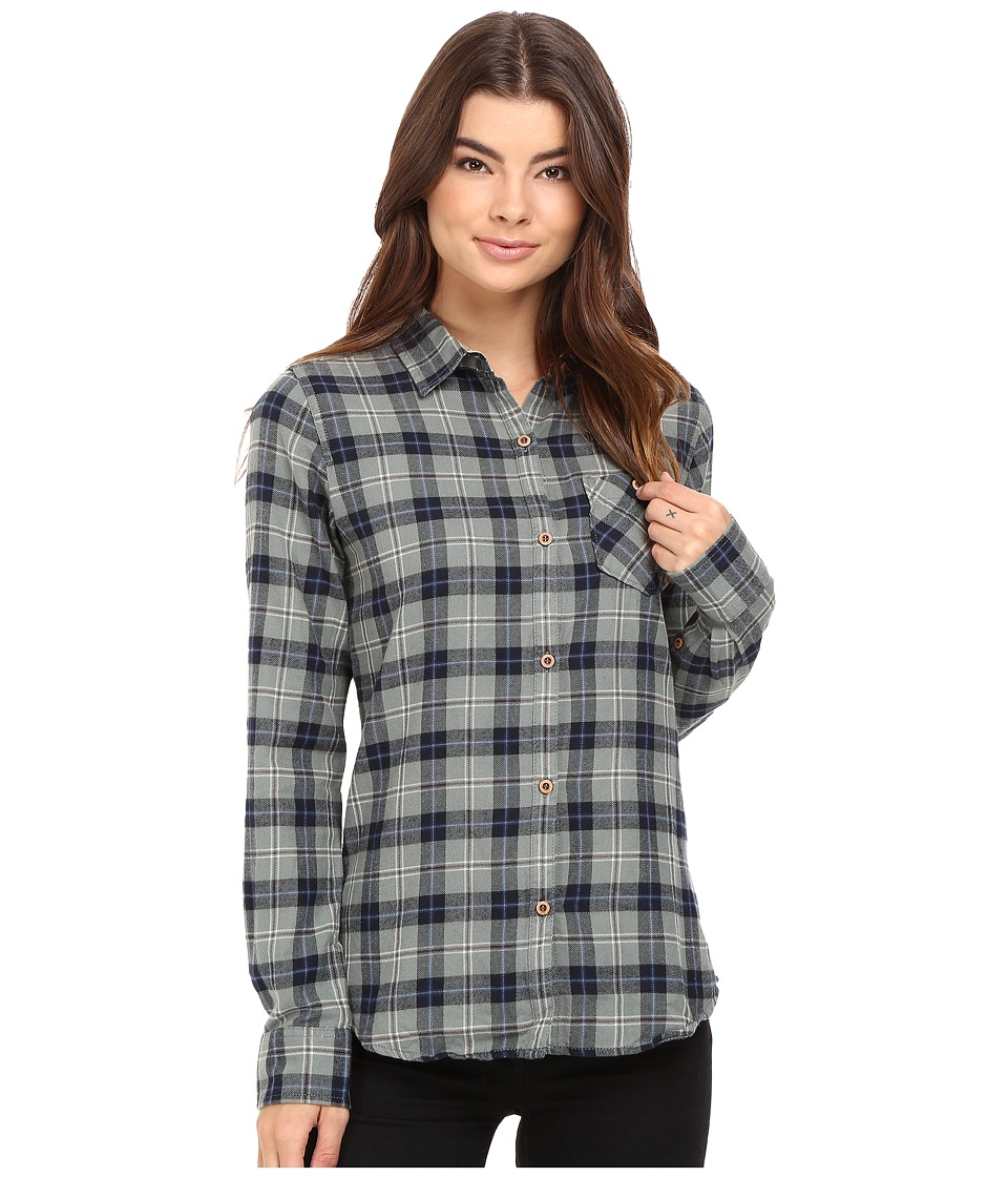 Burton - Grace L/S Woven (Eclipse Haze Plaid) Women's Long Sleeve Button Up