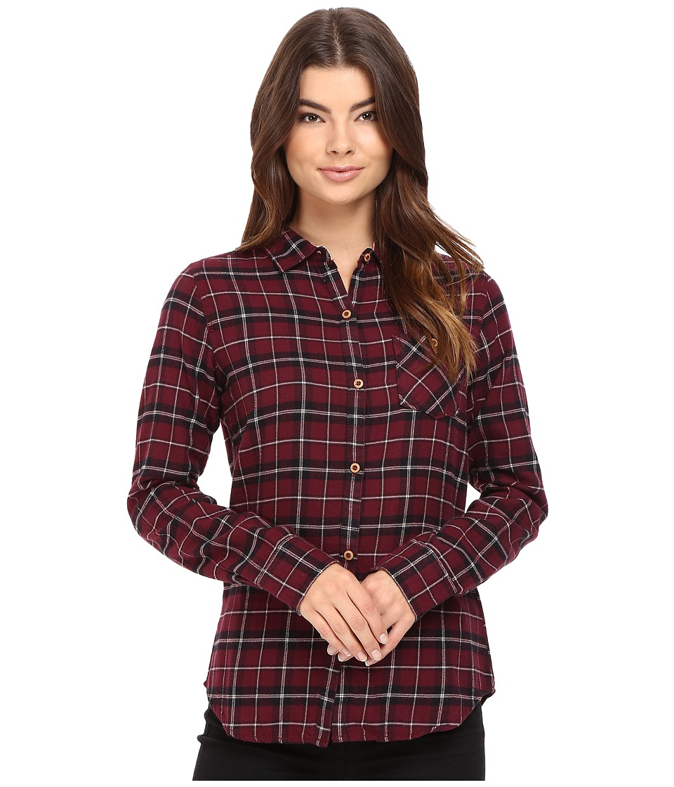 Burton - Grace L/S Woven (Sangria Haze Plaid) Women's Long Sleeve Button Up