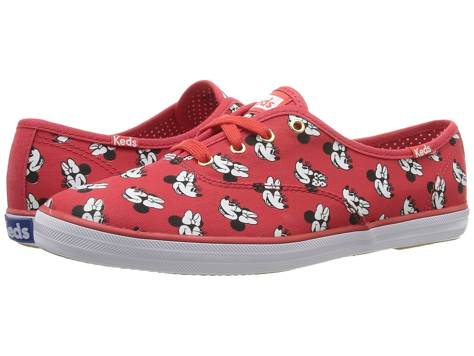Keds - Champion Minnie (Red Canvas) Women's Lace up casual Shoes