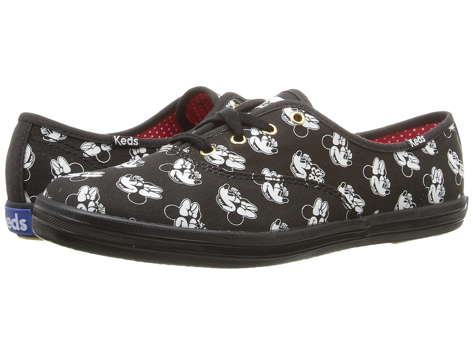 Keds - Champion Minnie (Black Canvas) Women's Lace up casual Shoes