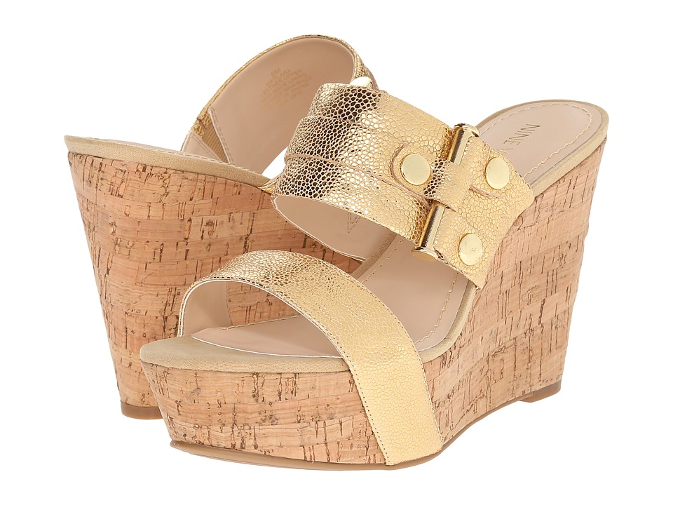 Nine West - Lara (Gold Leather) Women's Shoes