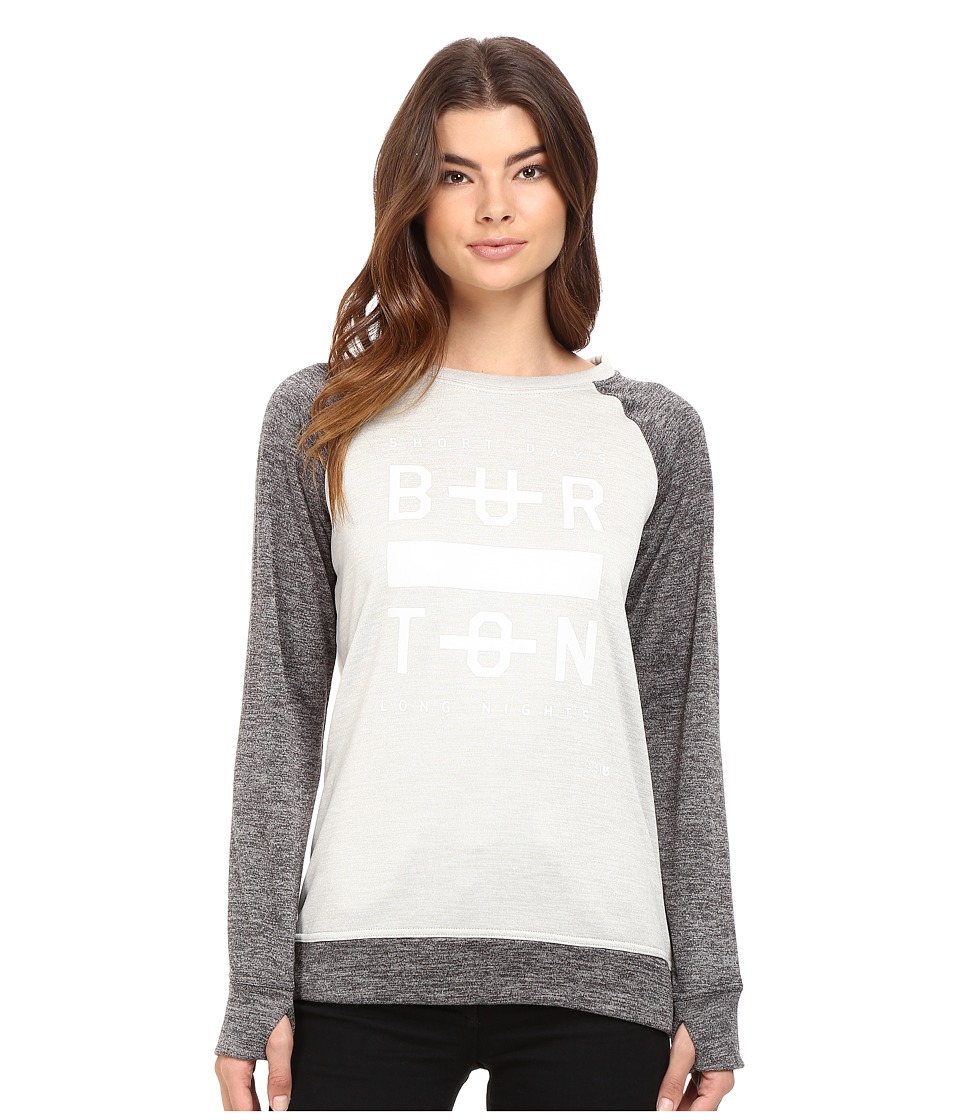 Burton - Quartz Crew (Dove Heather) Women's Long Sleeve Pullover