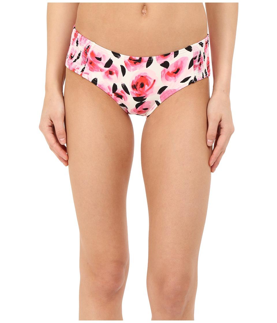 Kate Spade New York - Spring 17 Smocked Hipster Bottom (Cream) Women's Swimwear