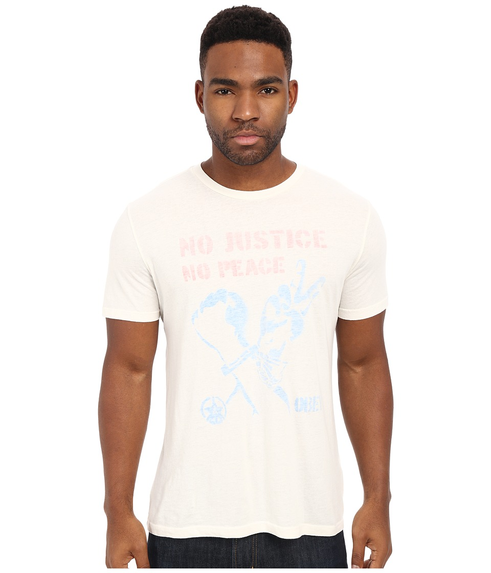 Obey - No Justice No Peace Tee (Cream) Men's T Shirt
