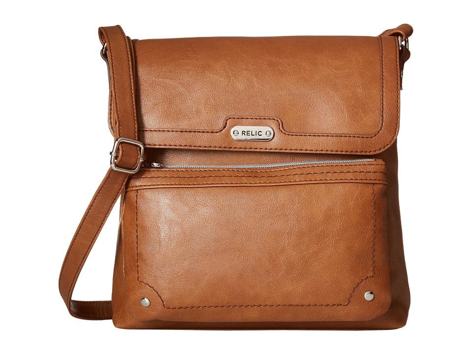 Relic - Evie Flap Crossbody (Cognac) Cross Body Handbags