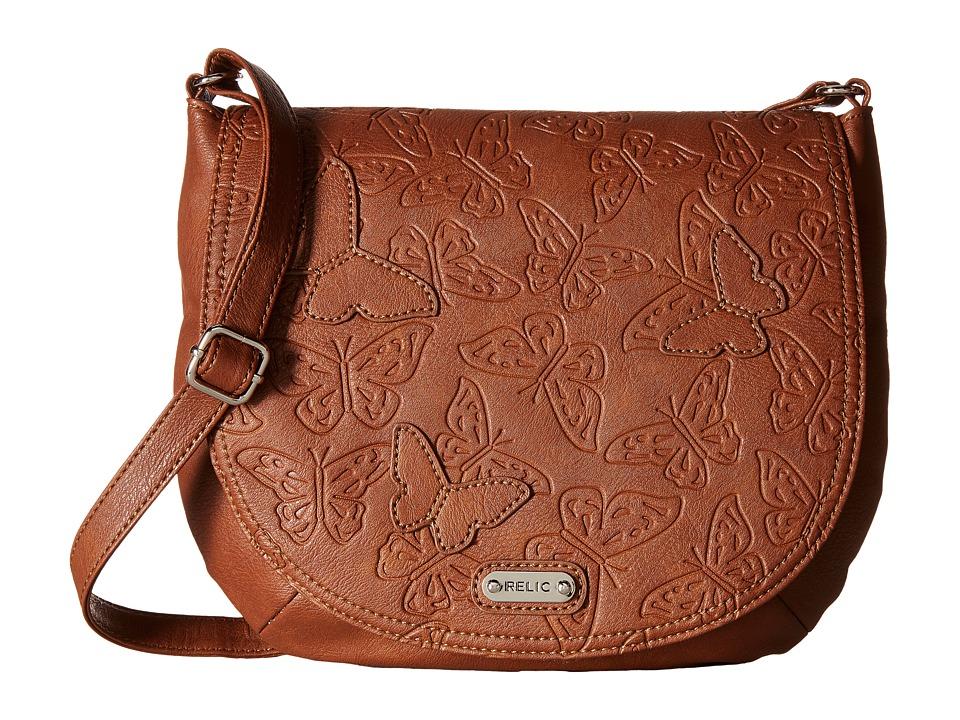 Relic - Kendall Flap Crossbody (Saddle) Cross Body Handbags