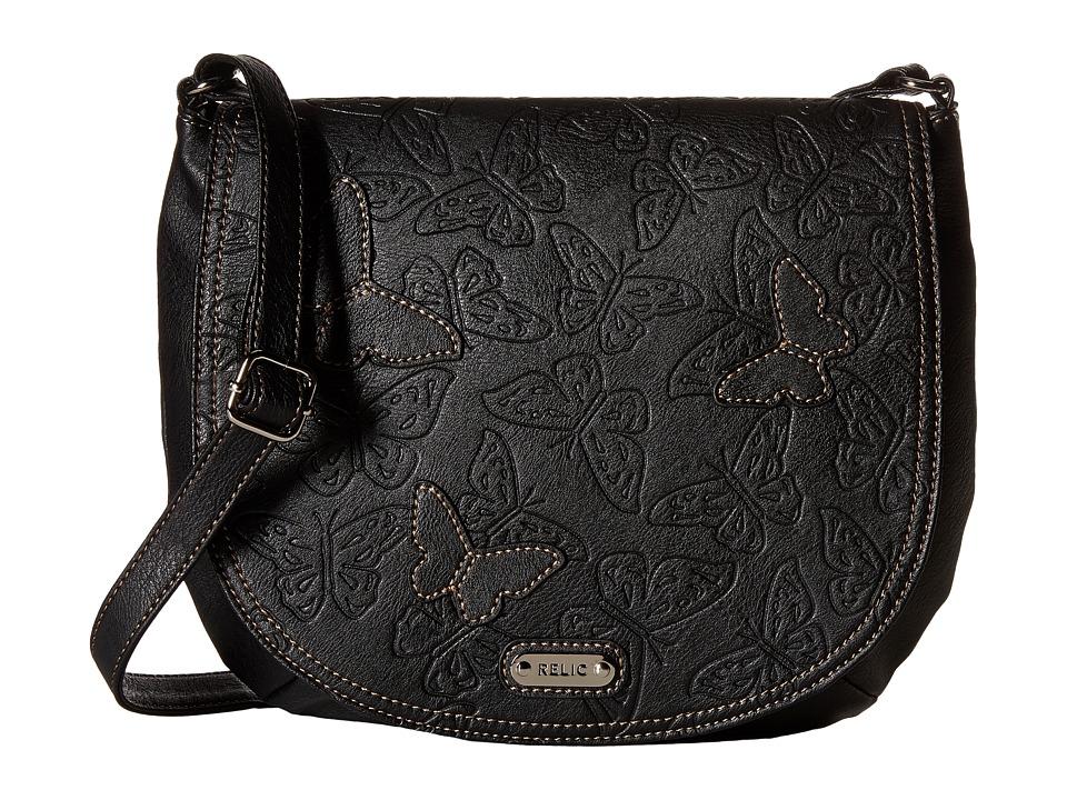 Relic - Kendall Flap Crossbody (Black) Cross Body Handbags