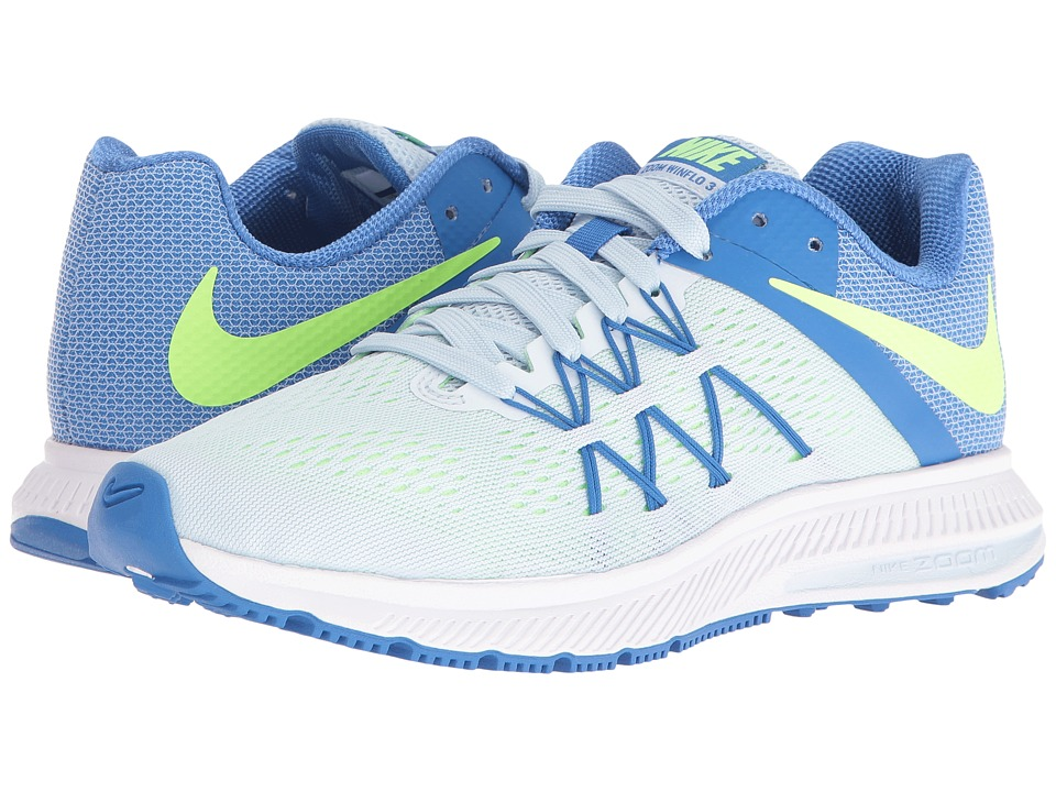 Nike - Zoom Winflo 3 (Blue Tint/Fountain Blue/White/Ghost Green) Women's Running Shoes