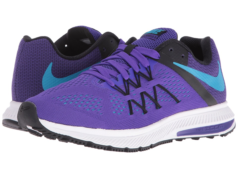 Nike - Zoom Winflo 3 (Fierce Purple/Black/White/Blue Lagoon) Women's Running Shoes