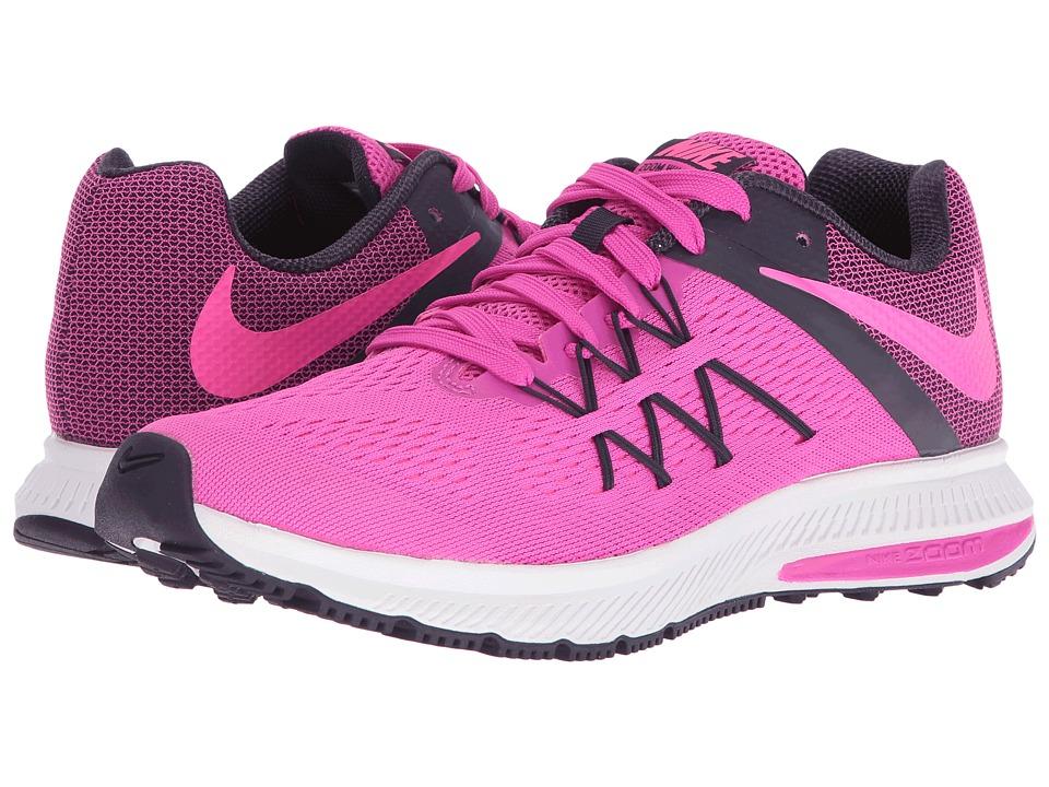 Nike - Zoom Winflo 3 (Fire Pink/Purple Dynasty/White/Pink Blast) Women's Running Shoes