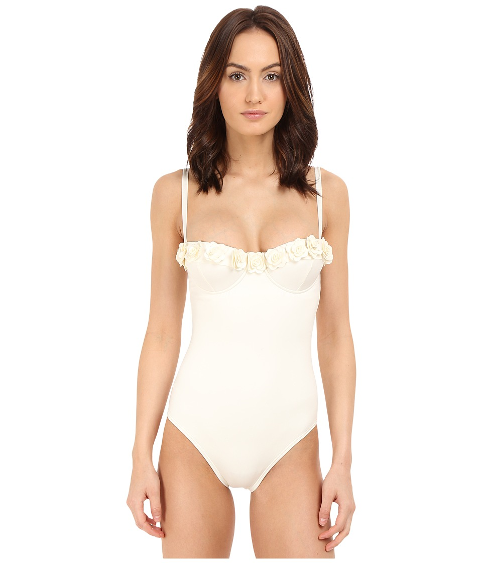 Kate Spade New York - Spring 17 Underwire Maillot (Cream) Women's Swimsuits One Piece